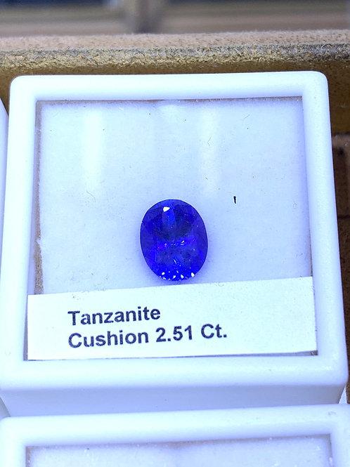 Cushion 2.51 tanzanite