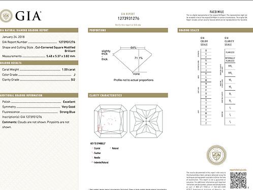 GIA Radiant 1.00Ct. J SI2