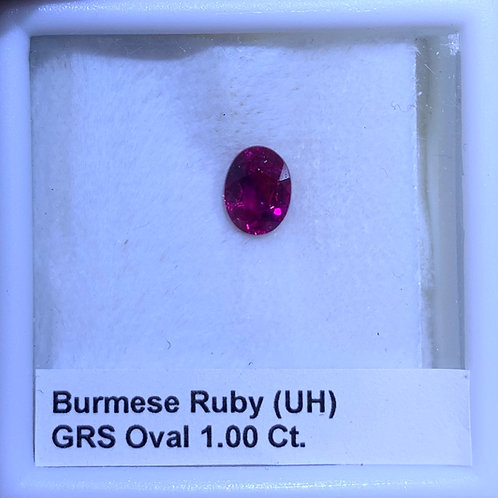 Ruby Oval 1.00 Ct. GRS Unheated