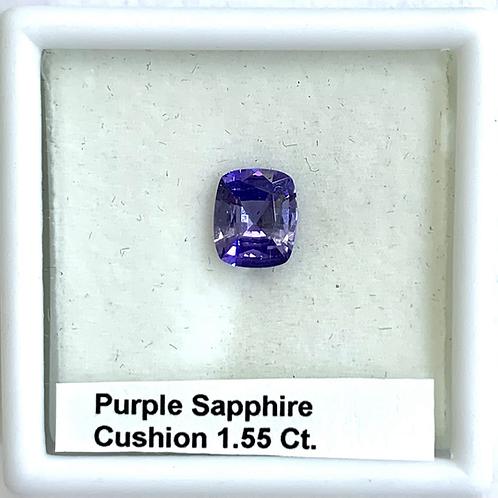 Purple Sapphire Cushion 1.55 Ct
