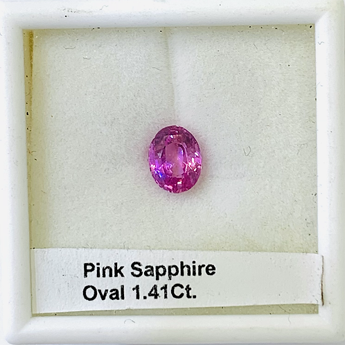 Pink Sapphire Oval 1.41 Ct