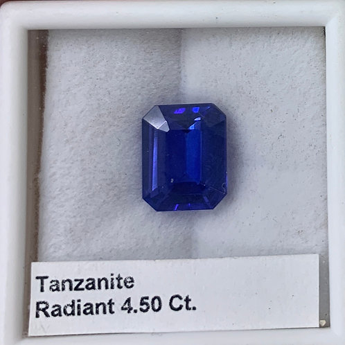 Tanzanite Radiant 4.50 Ct.