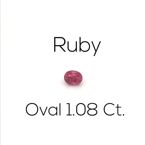 Ruby Oval 1.08 Ct.