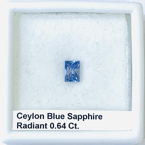 Blue Sapphire Radiant 0.64 Ct