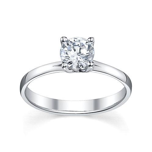 Round Brilliant Diamond Engagement Ring Downtown Los Angeles Diamond District