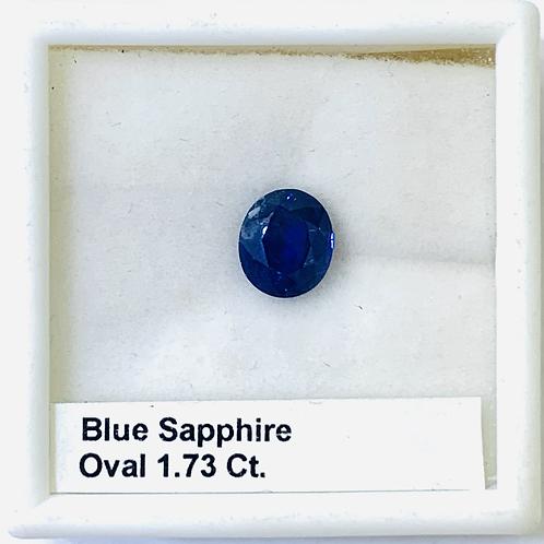 Blue Sapphire Oval 1.73 Ct