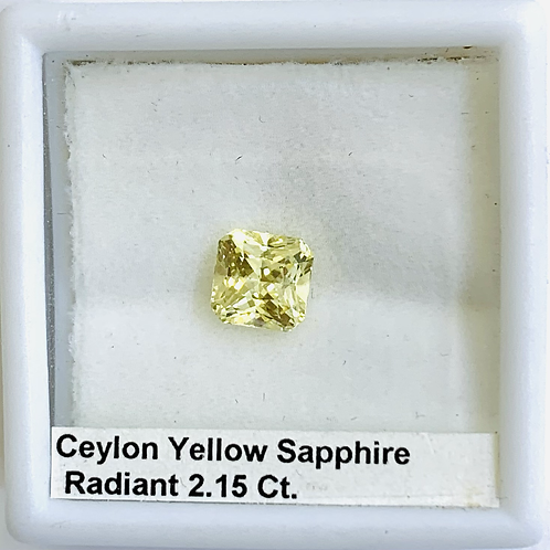 Yellow Sapphire Radiant 2.15 Ct