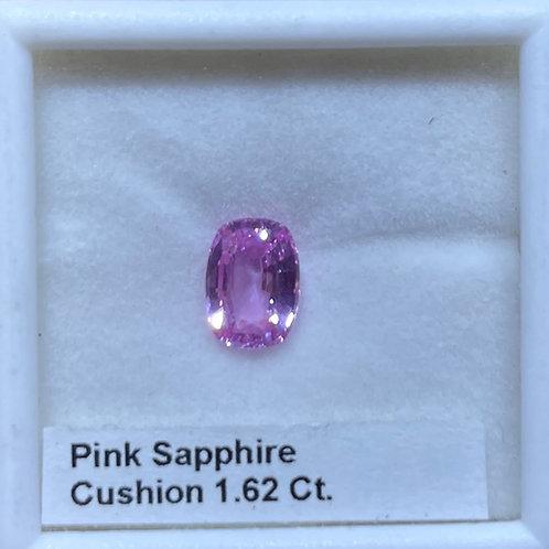 Pink Sapphire 1.62 Cushion