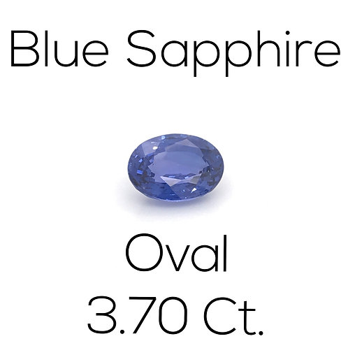 Blue Sapphire Oval 3.70 Ct.