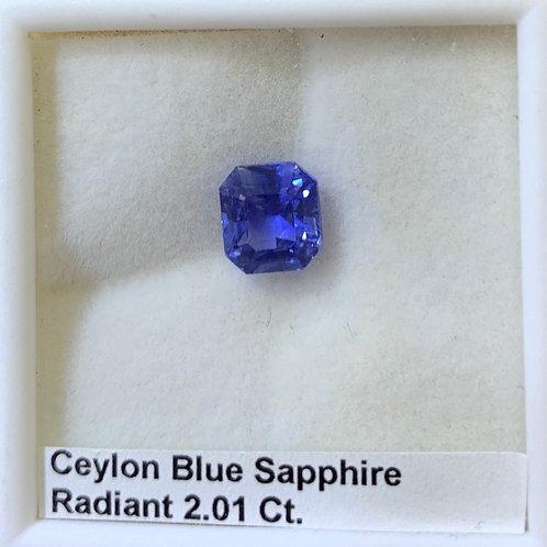 Blue Sapphire Radiant 2.01 ct