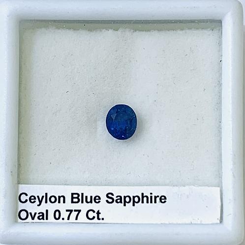 Blue Sapphire Oval 0.77 Ct