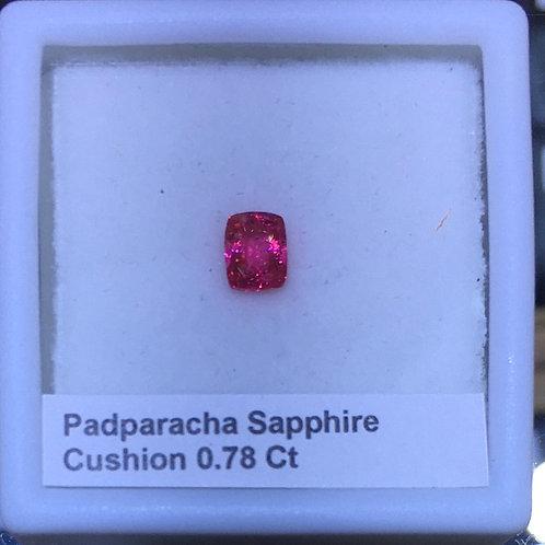Padparascha Sapphire Cushion Cut 0.78 Ct.
