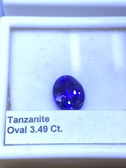 Oval 3.49 tanzanite