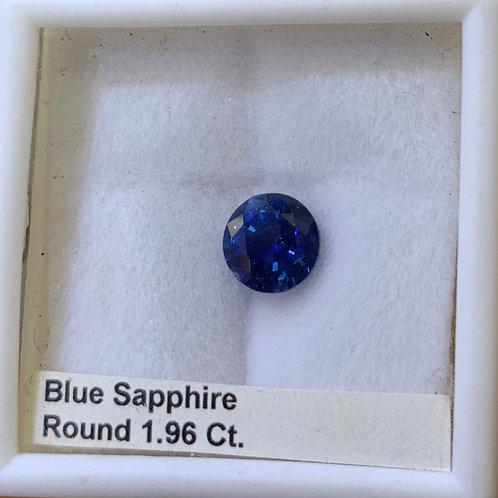 Blue Sapphire Round 1.96