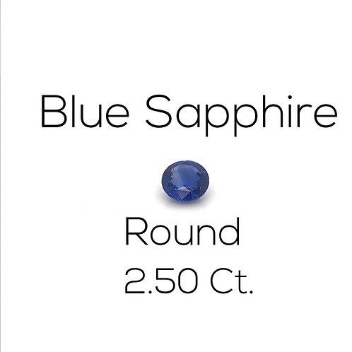Round Ceylon Blue Sapphire Gemstone Downtown Los Angeles Diamond District