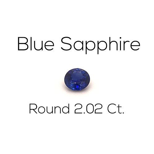 Round Ceylon Blue Sapphire Downtown Los Angeles Diamond District