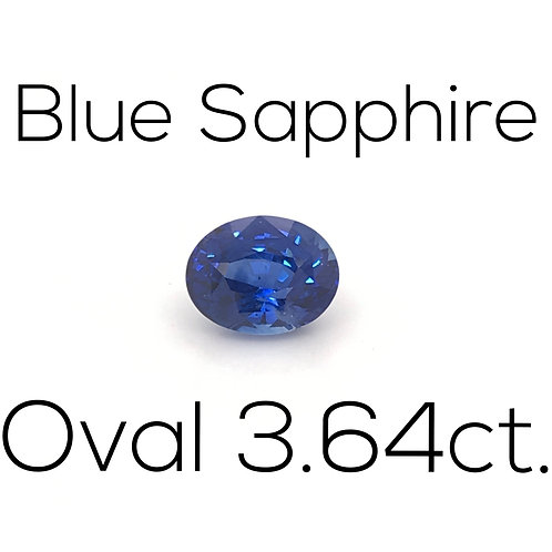 Oval Ceylon Blue Sapphire Downtown Los Angeles Diamond District