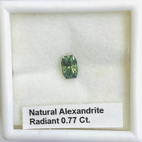 Natural Alexandrite -Radiant-  0.77 Ct.