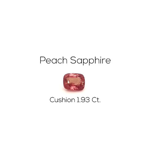 Peach Sapphire Cushion 1.93 Ct.