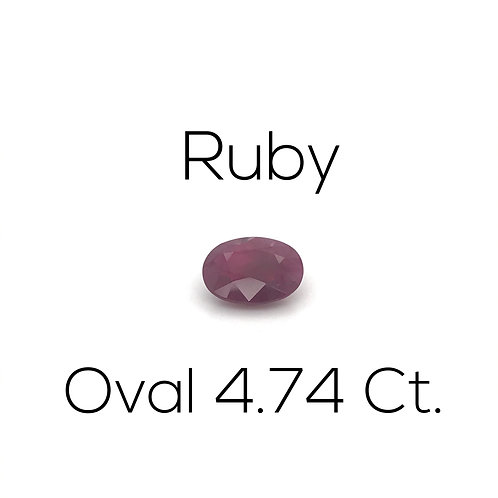 Ruby Oval 4.74 Ct.