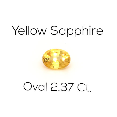 Oval Ceylon Yellow Sapphire Downtown Los Angeles Diamond District