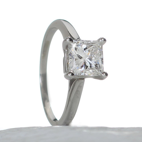 Princess Cut Diamond Solitaire Engagement Ring Downtown Los Angeles Diamond District