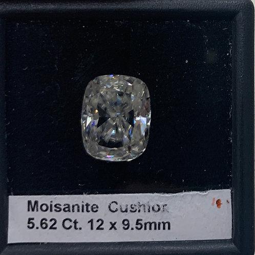 Moissanite Cushion 5.62 Ct.