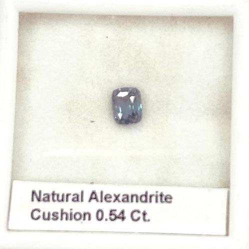 Alexandrite Cushion 0.54 Ct