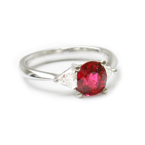 Ruby 3 Stone Engagement Ring Downtown Los Angeles Diamond District