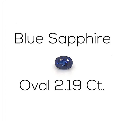 Oval Blue Sapphire Gemstone Downtown Los Angeles Diamond District