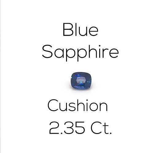 Cushion Ceylon Blue Sapphire Downtown Los Angeles Diamond District