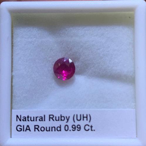 Ruby Round 0.99 Ct.
