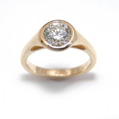 Diamond Bezel Ring Los Angeles Diamond District