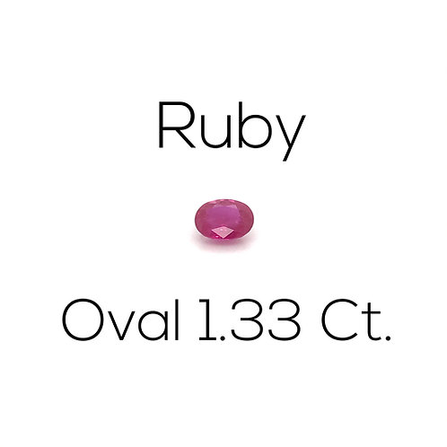 Ruby GRS Oval 1.33 Ct.