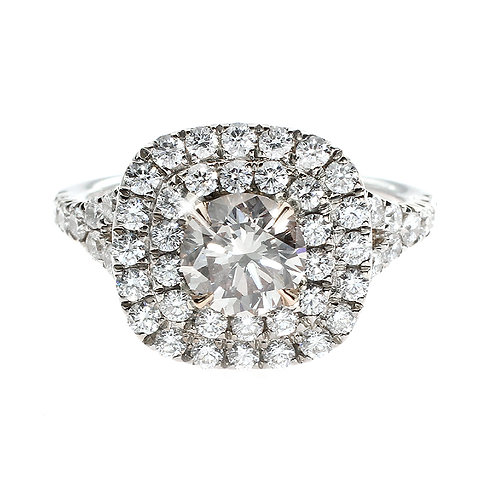 Pink Diamond Double Halo Ring Downtown Los Angeles Diamond District