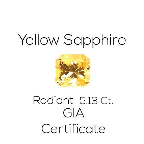Radiant Yellow Sapphire Ceylon Downtown Los Angeles Diamond District