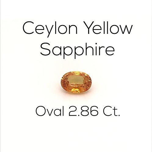 Oval Ceylon Yellow Sapphire Downtown Los Angeles Diamond District