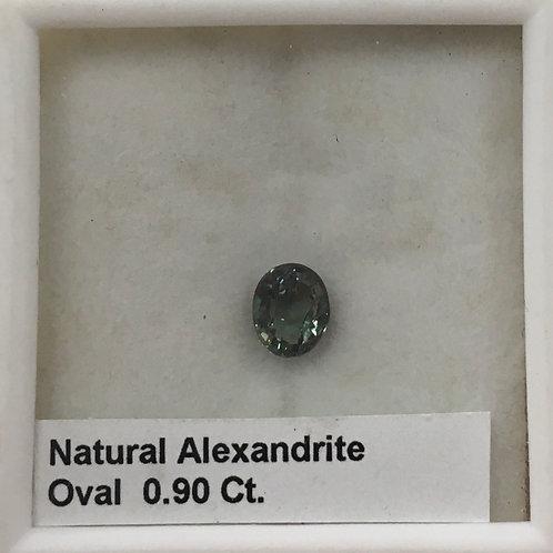 Alexandrite Oval 0.90 Ct