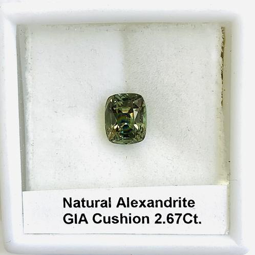 Alexandrite Cushion 2.67 ct