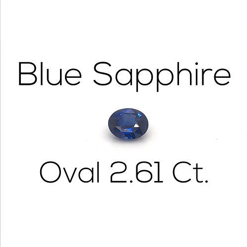 Oval Ceylon Blue Sapphire Downtown Los Angeles Diamond District