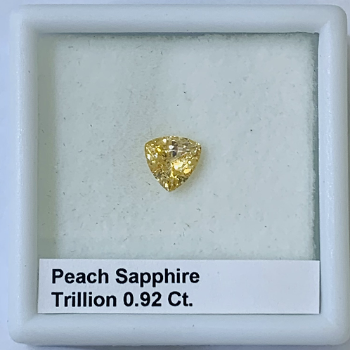 Peach Sapphire Trillion 0.92 Ct