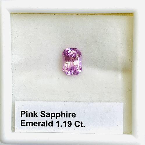 Pink Sapphire - Emerald cut - 1.19 Ct