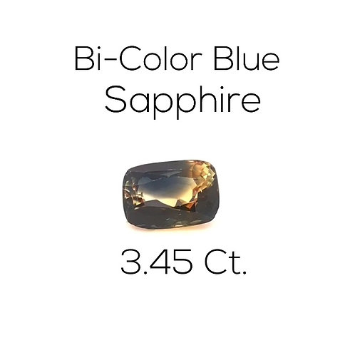 Cushion Ceylon Bi Color Sapphire Downtown Los Angeles Diamond District