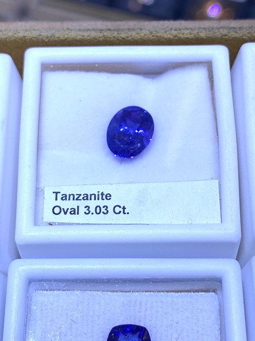 Oval 3.0 tanzanite