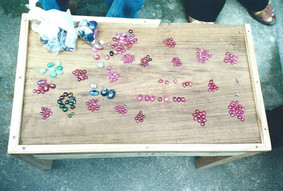 A collection of raw sapphires and rubies before they're cut from Sri Lanka.