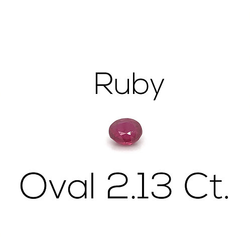 Ruby Oval 2.13 Ct.