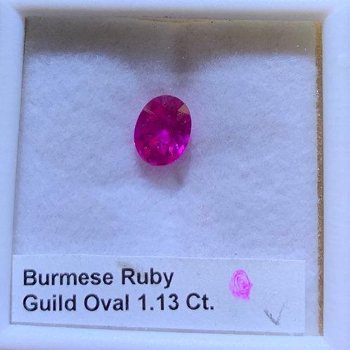 Burma Ruby Oval 1.13 Ct