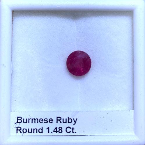 Ruby Round 1.48 Ct.