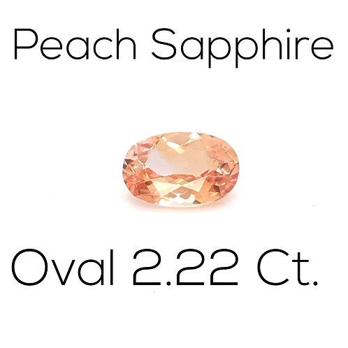 Peach Sapphire Oval 2.22 Ct.
