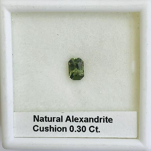 Natural Alexandrite  -Cushion- 0.30 Ct.